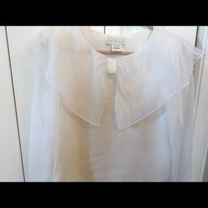 Vintage polyester a white blouse